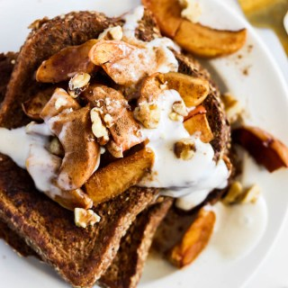 Apple Pie Vegan French Toast