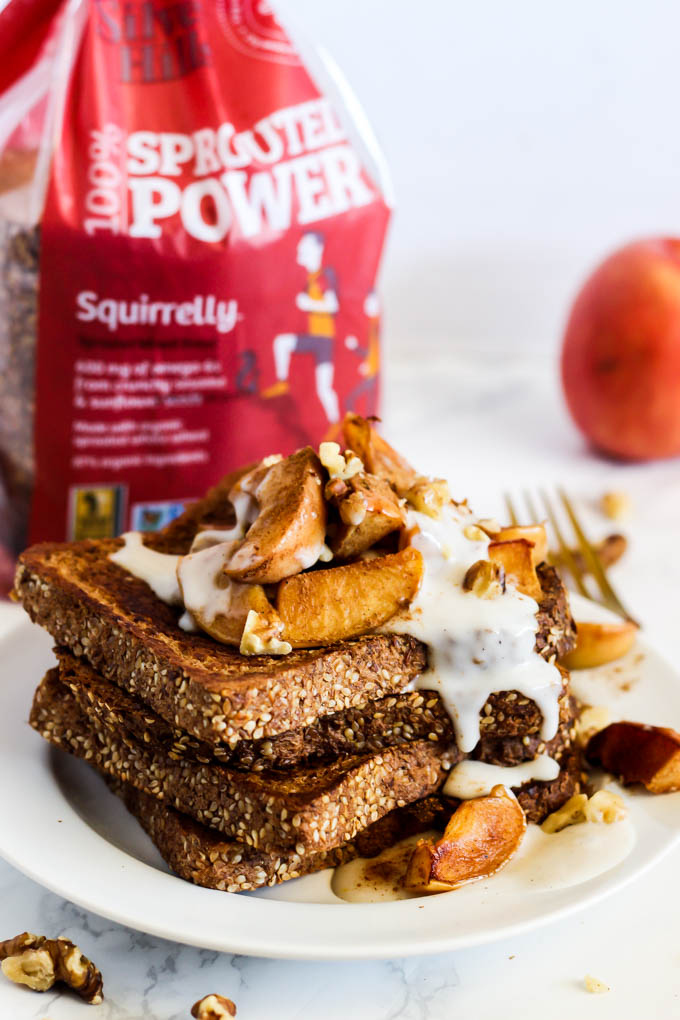 Apple pie vegan french toast emilie eats make breakfast the most satisfying meal of the day with some apple pie vegan french toast ccuart Gallery