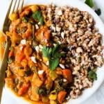 Slow Cooker Chickpea Peanut Stew (vegan & gluten-free)