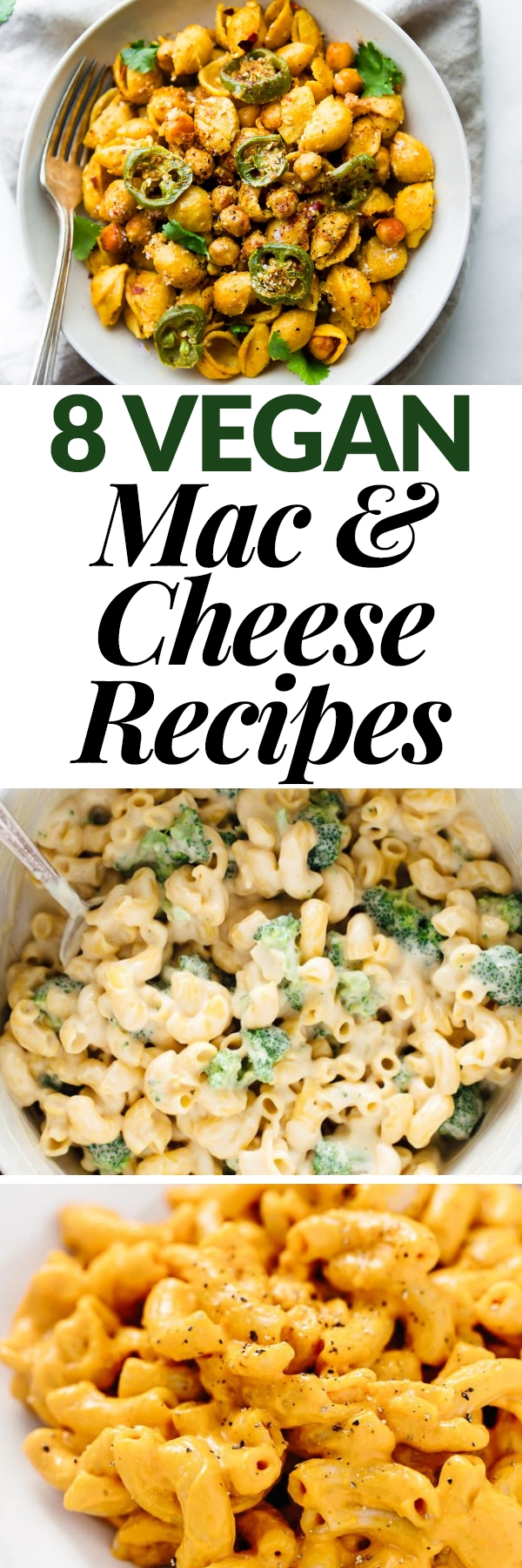 You don't have to give up creamy, dreamy mac and cheese when you eat vegan! These 8 mouthwatering vegan mac and cheese recipes are sure to be a hit with everyone. Make them for weeknight meals or serve them to a crowd!