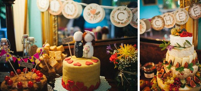 Colourful Walcot Hall venue decor - Shropshire Wedding Photographer