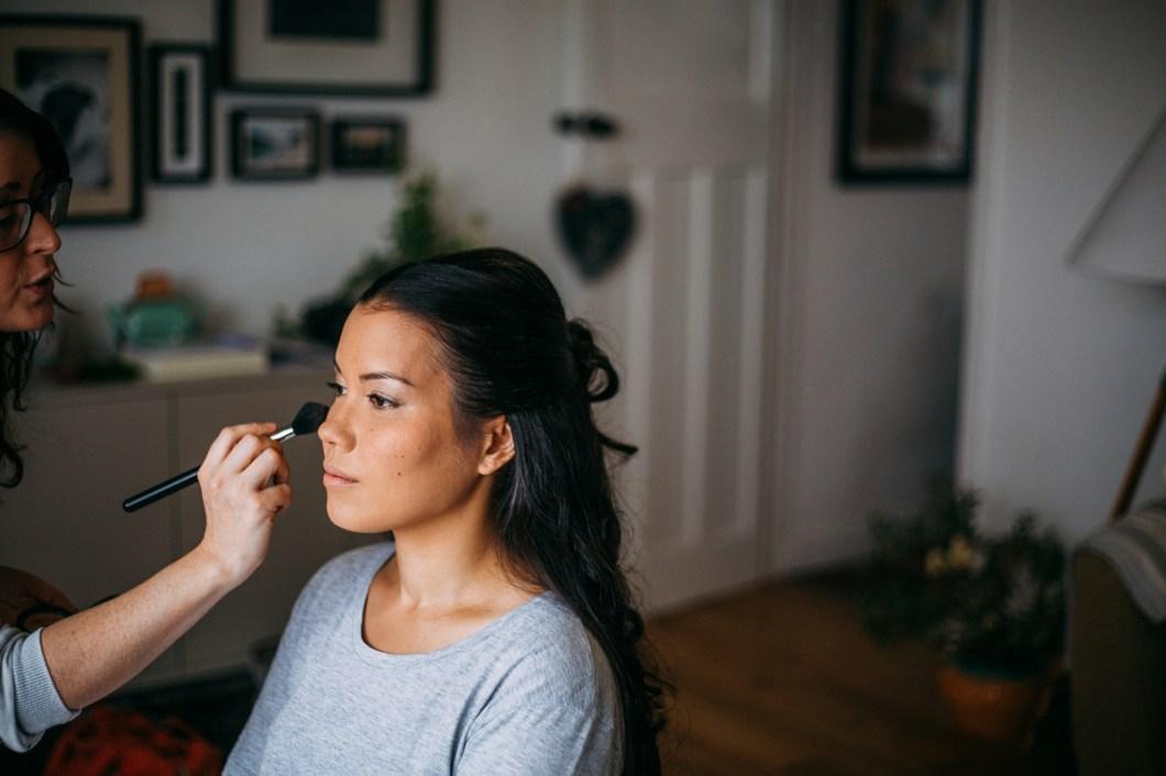Natural wedding makeup