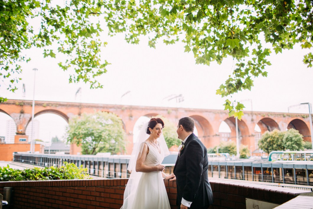 Bride and groom at Stockport