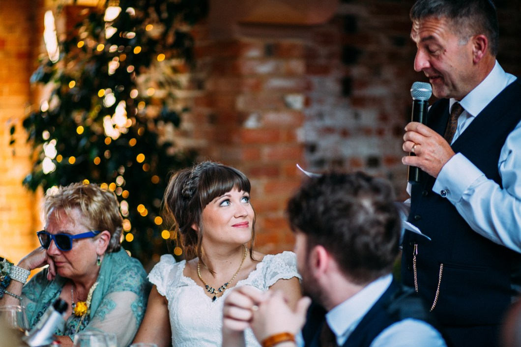 Father of the bride speech at Shustoke Barn