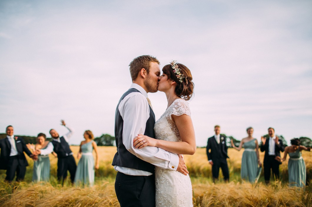 Beautiful outdoor wedding photos in the cornfields