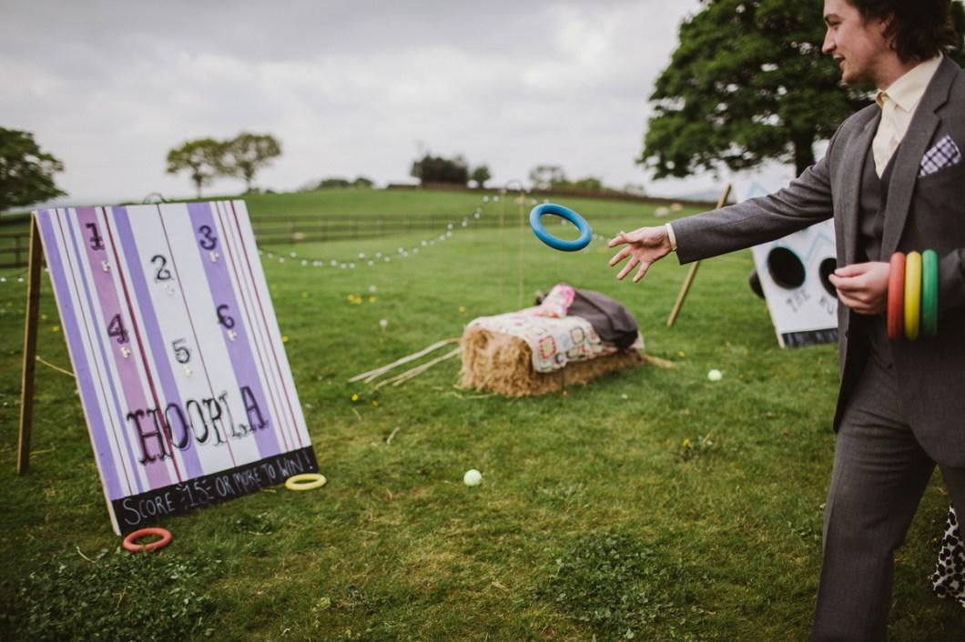 Fun wedding games, farm wedding