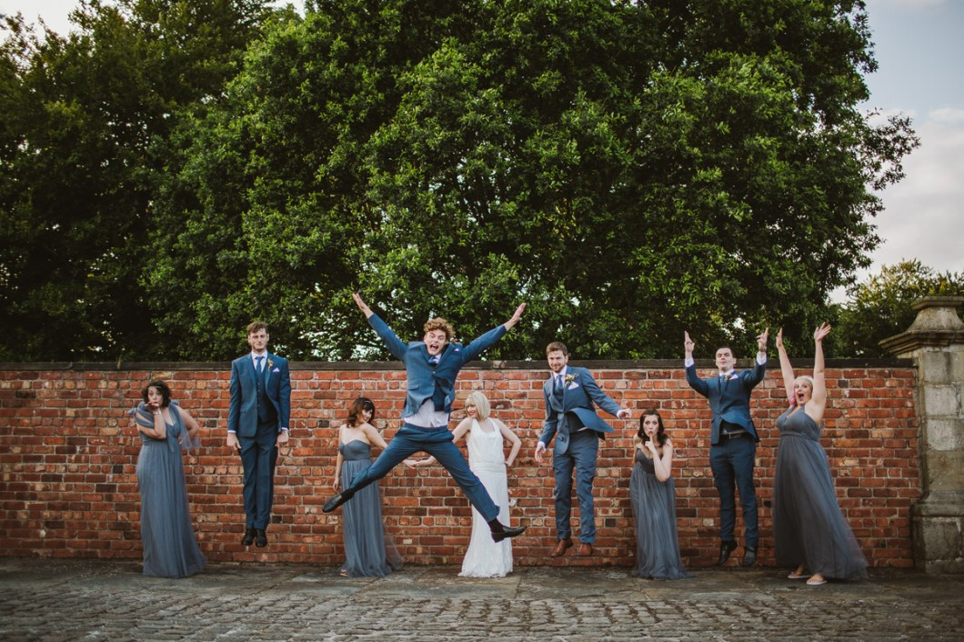 Creative wedding portrait Meols Hall