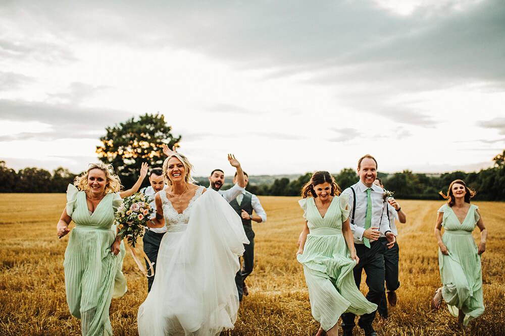 Fun outdoor wedding Nottingham
