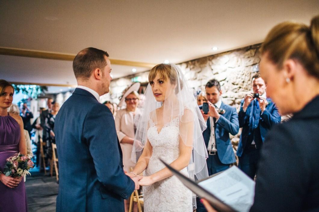 Exchanging vows - Barn wedding