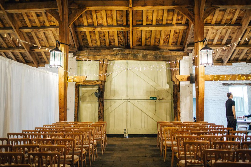 East Riddlesden Hall wedding barn.