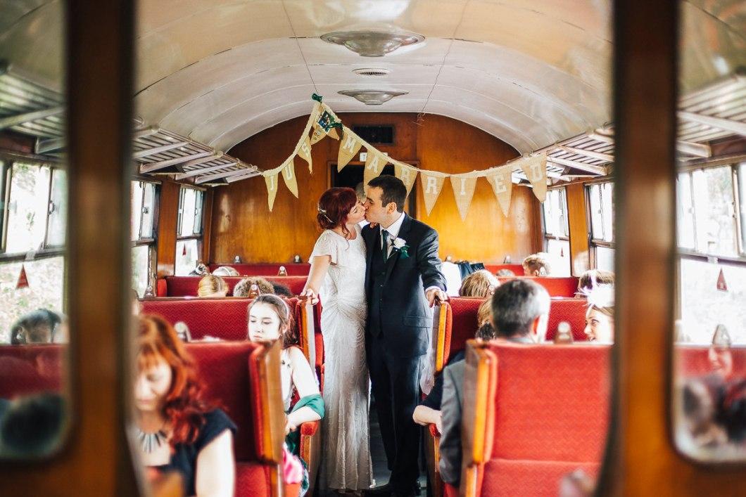 Wedding train portrait