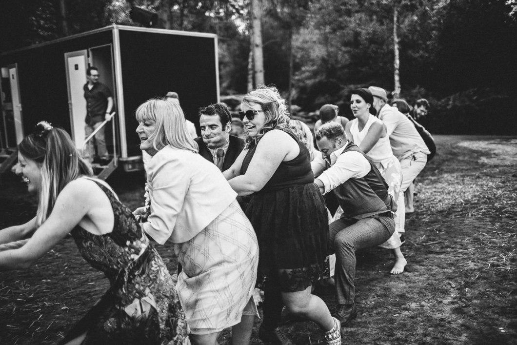 Outdoor wedding games Delamere Forest