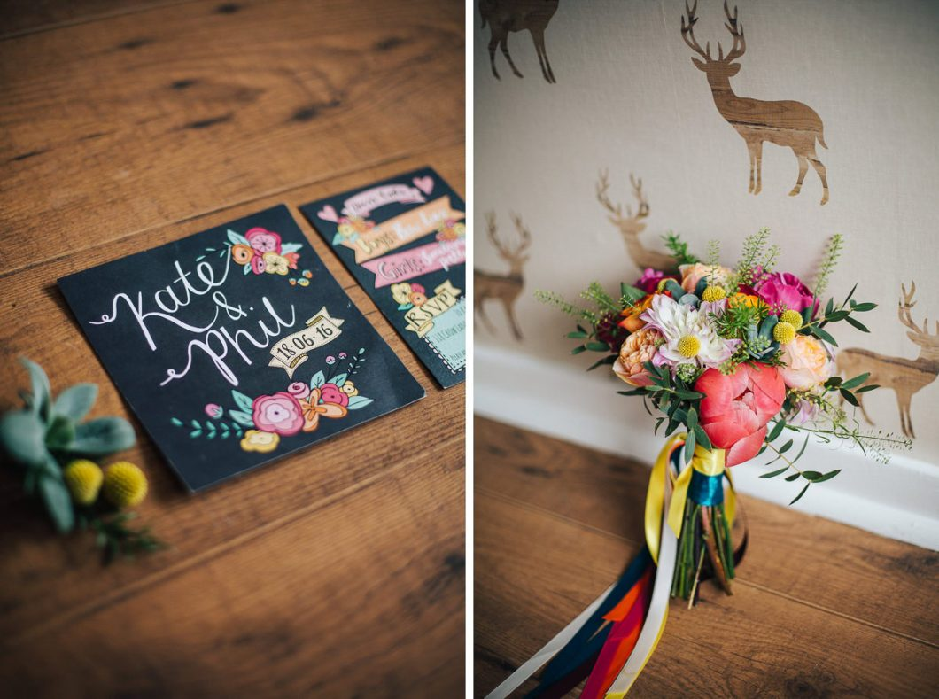 Colourful wedding details