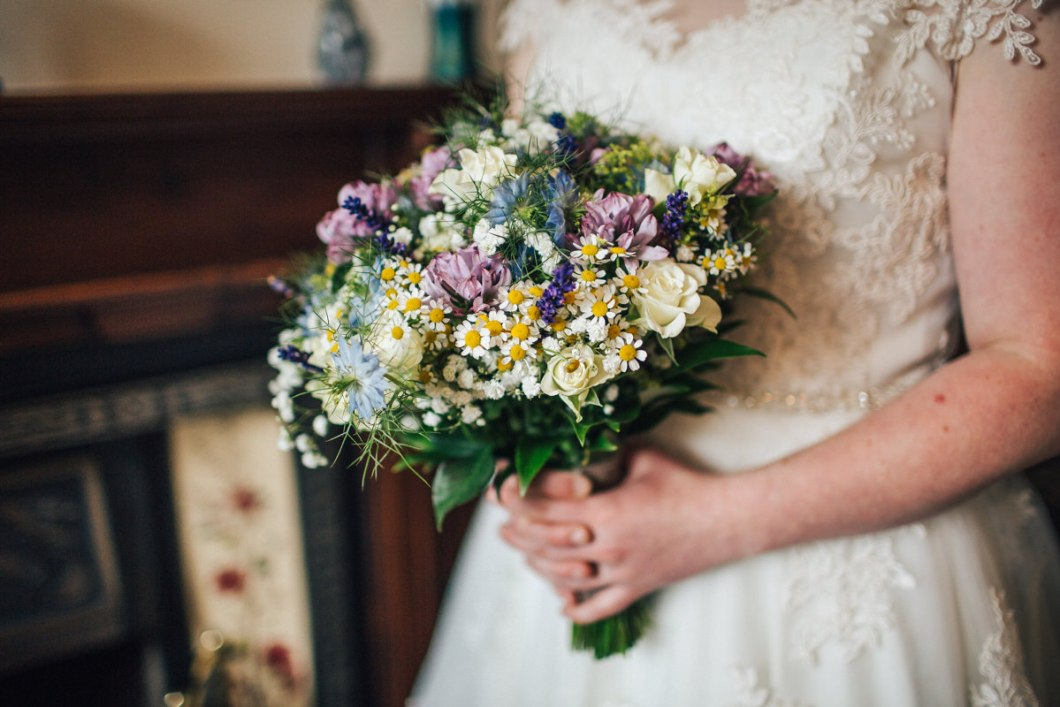 Soft pastel wedding flowers Lancashire