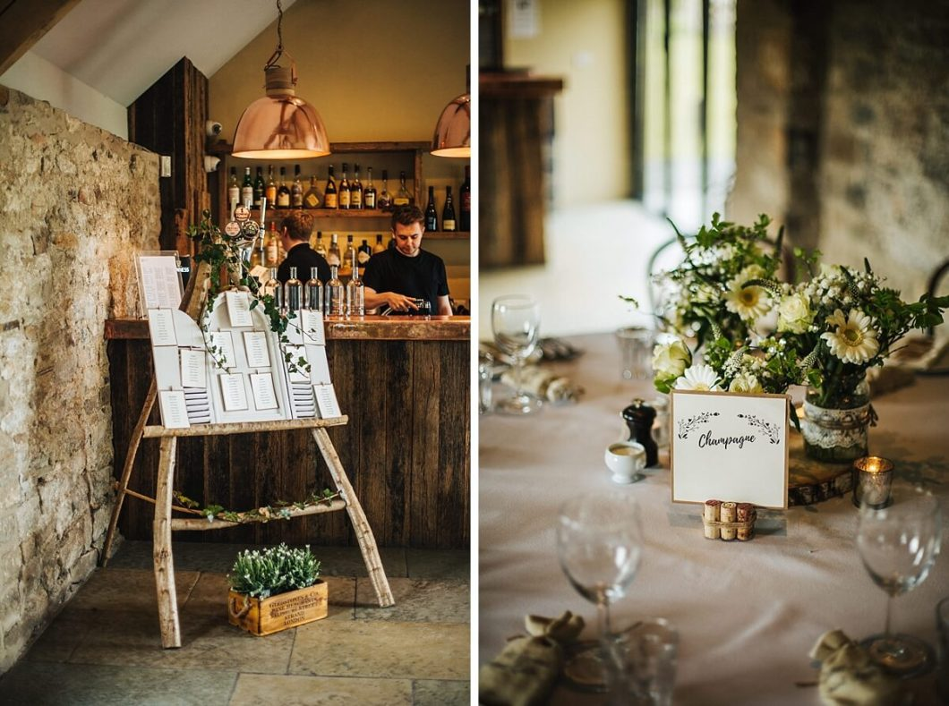 Rustic wedding table and sign