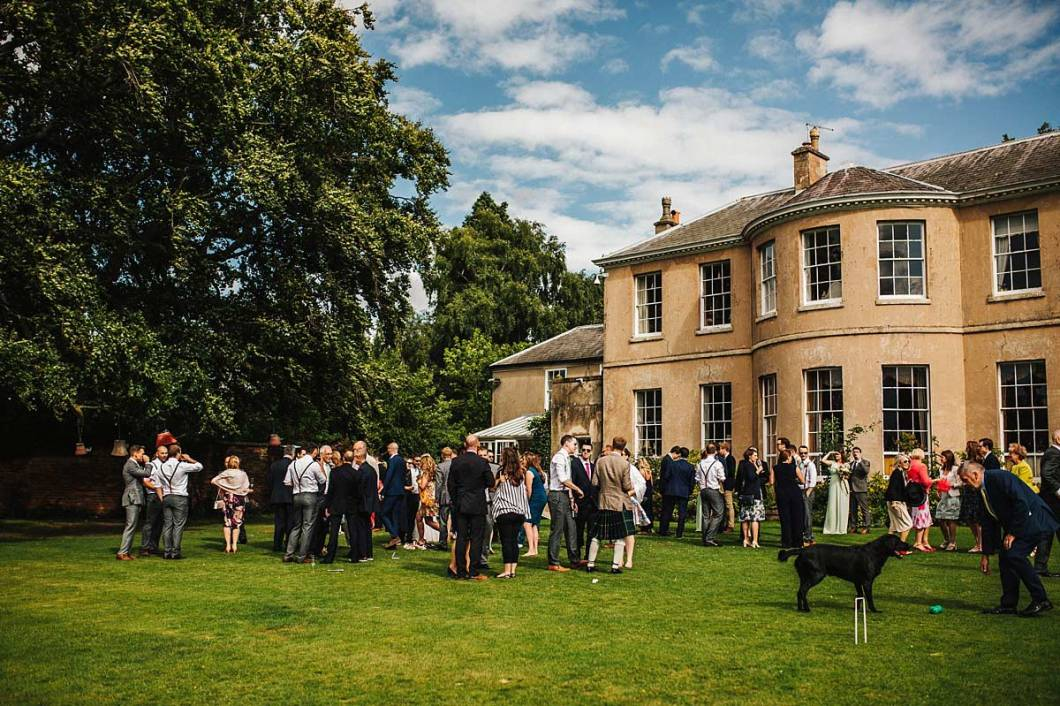 Outdoor wedding at East Bridgford Hill