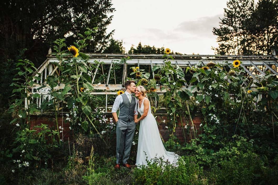 Greenhouse wedding photo