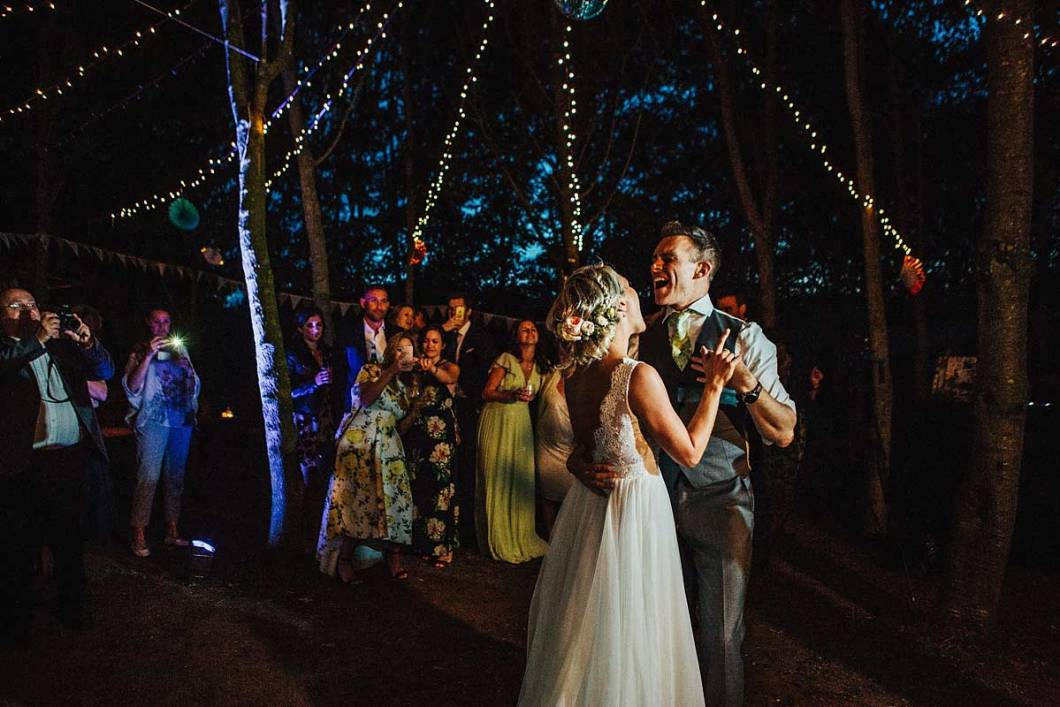 Bride and Groom's first dance at East Bridgford Hill