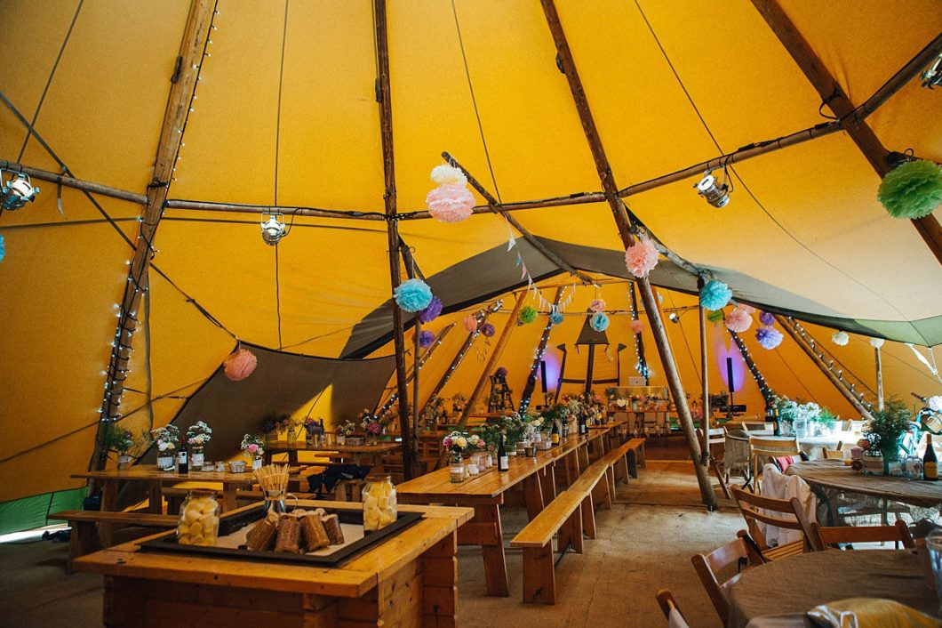Event in a Tent Tipi interior