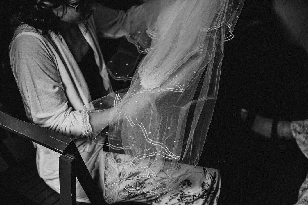 Bride's Laura Ashley veil