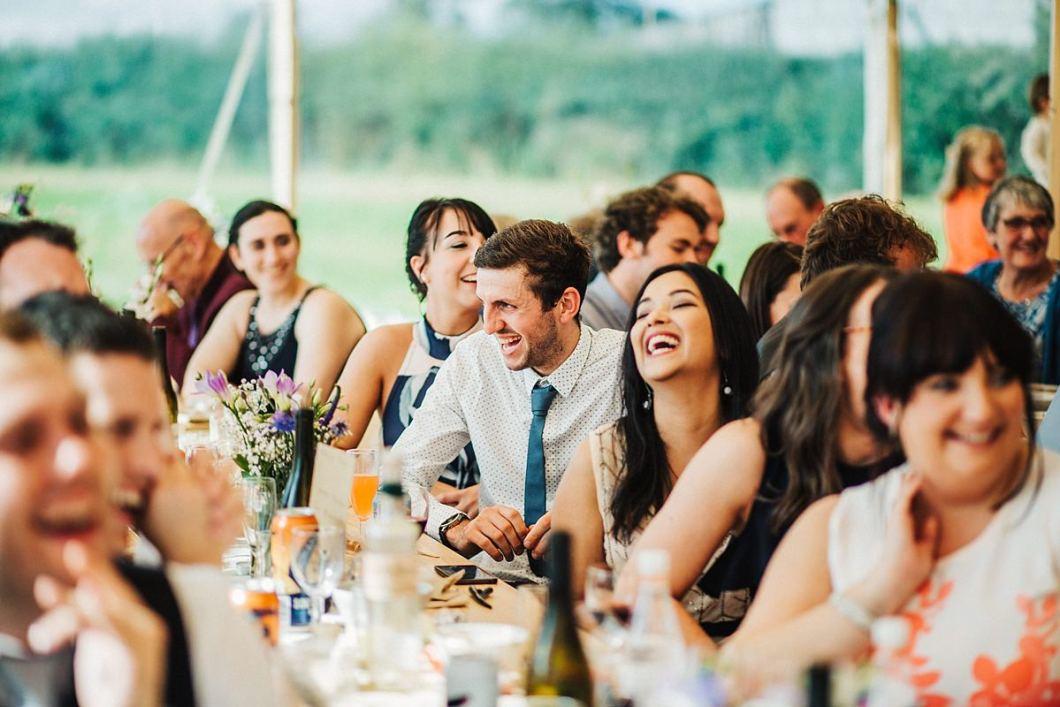 Guests enjoying speeches