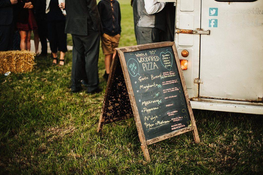 Wedding food sign