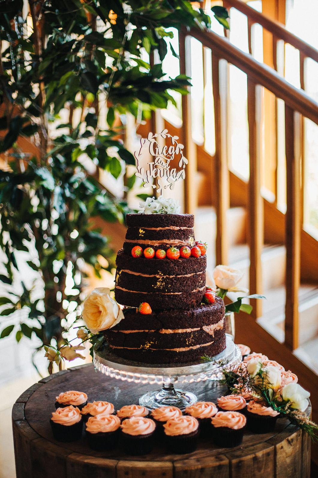 Becky's Bakes chocolate naked wedding cake
