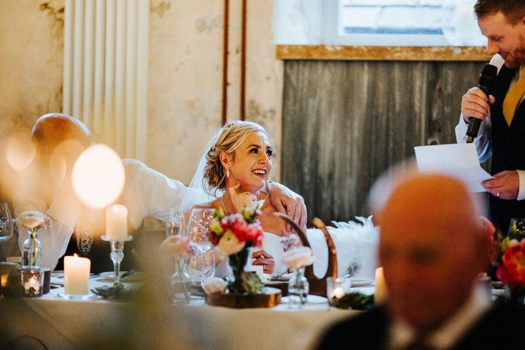 Emotional wedding speech Lancashire