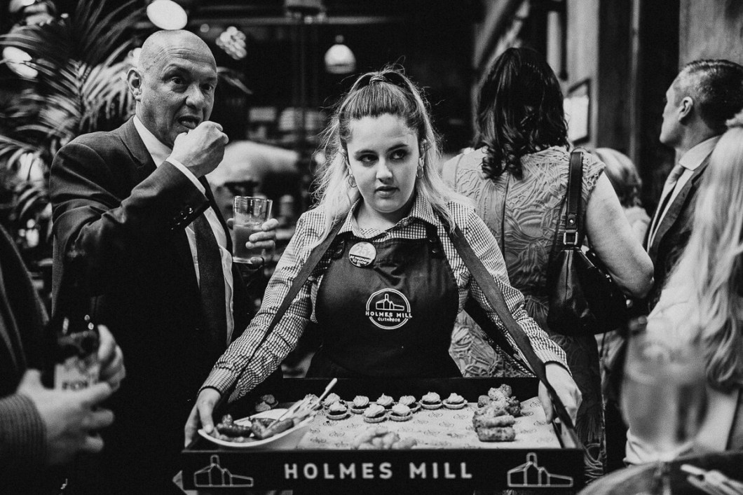 Canapes at Holmes Mill