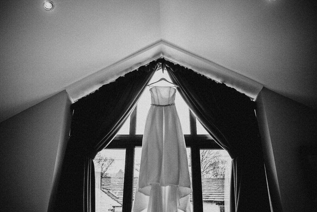 LuLu Brown's wedding dress with belt