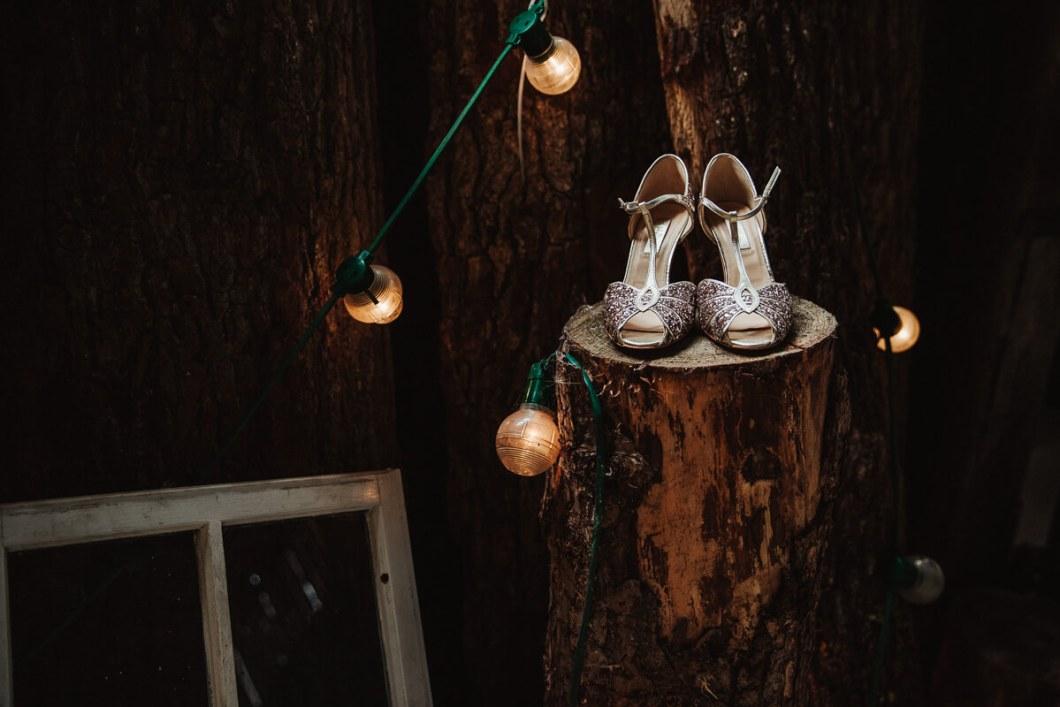 Rachel Simpson gold sparkly wedding shoes