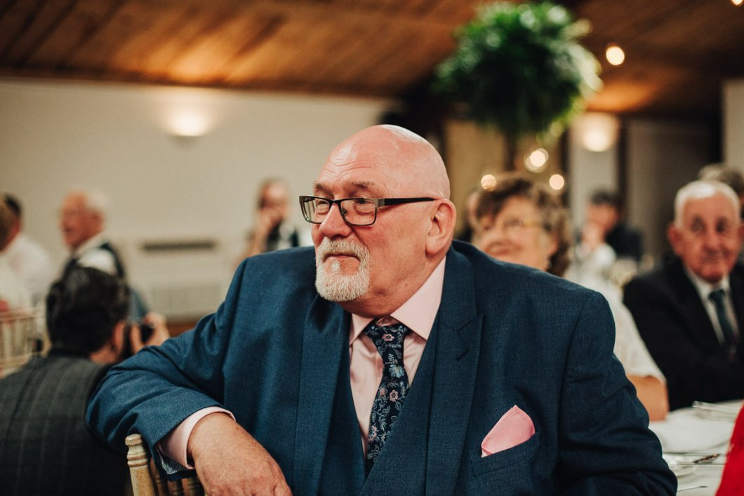 Wedding guest at a Cheshire wedding
