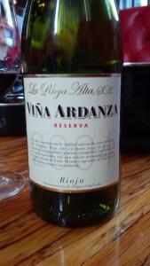 Viña Ardanza Reserva 2004 wine bottle