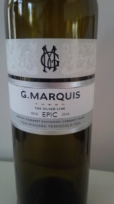 G Marquis The Silver Line Epic 2010 wine bottle