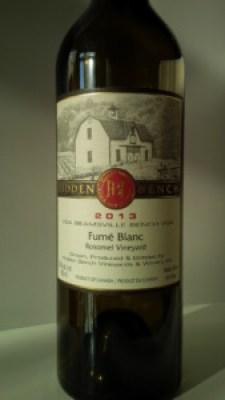 Hidden Bench Fumé Blanc 2013 Wine Review