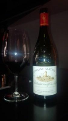 Domaine Mathieu Châteauneuf-du-Pape 2012 Wine Bottle