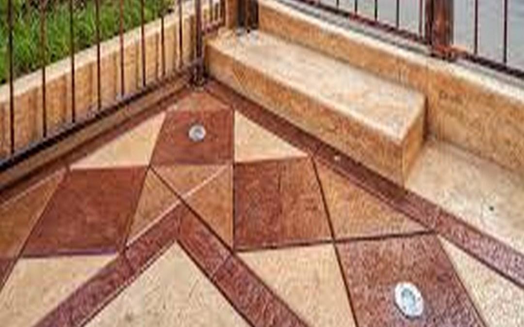 Pavimento stampato in calcestruzzo per interni ed esterni