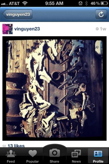 Instagram photo of keys street art by vinguyen23