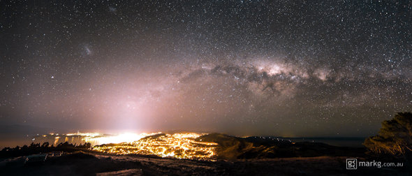 The Milky Way above Wellington, New Zealand
