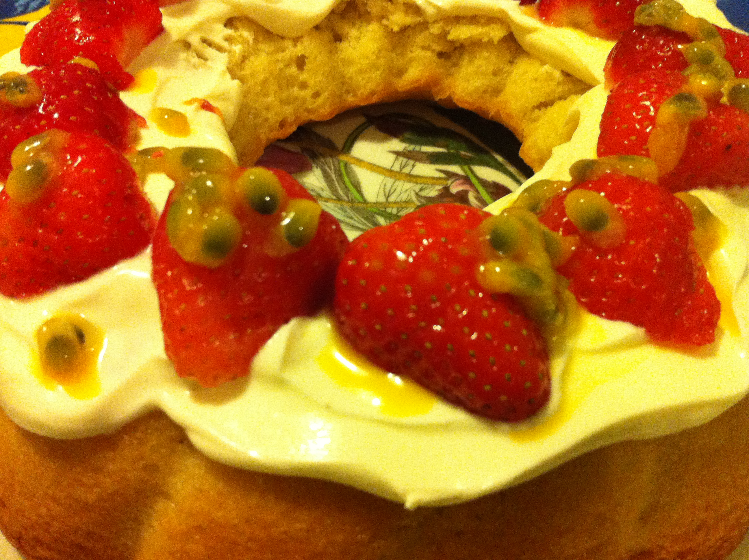 Strawberry and Passion Fruit Cake