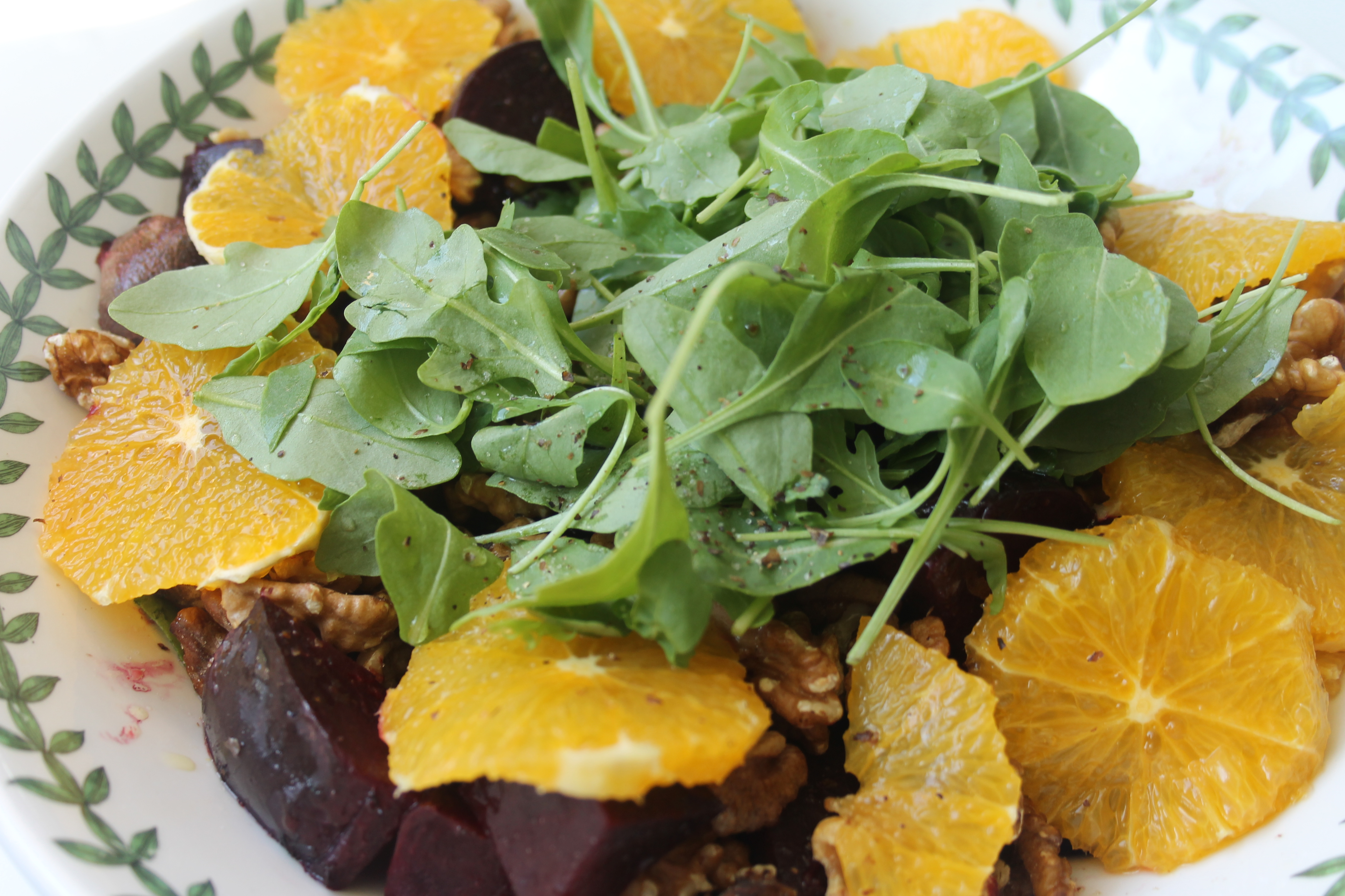 Beetroot and orange with watercress salad