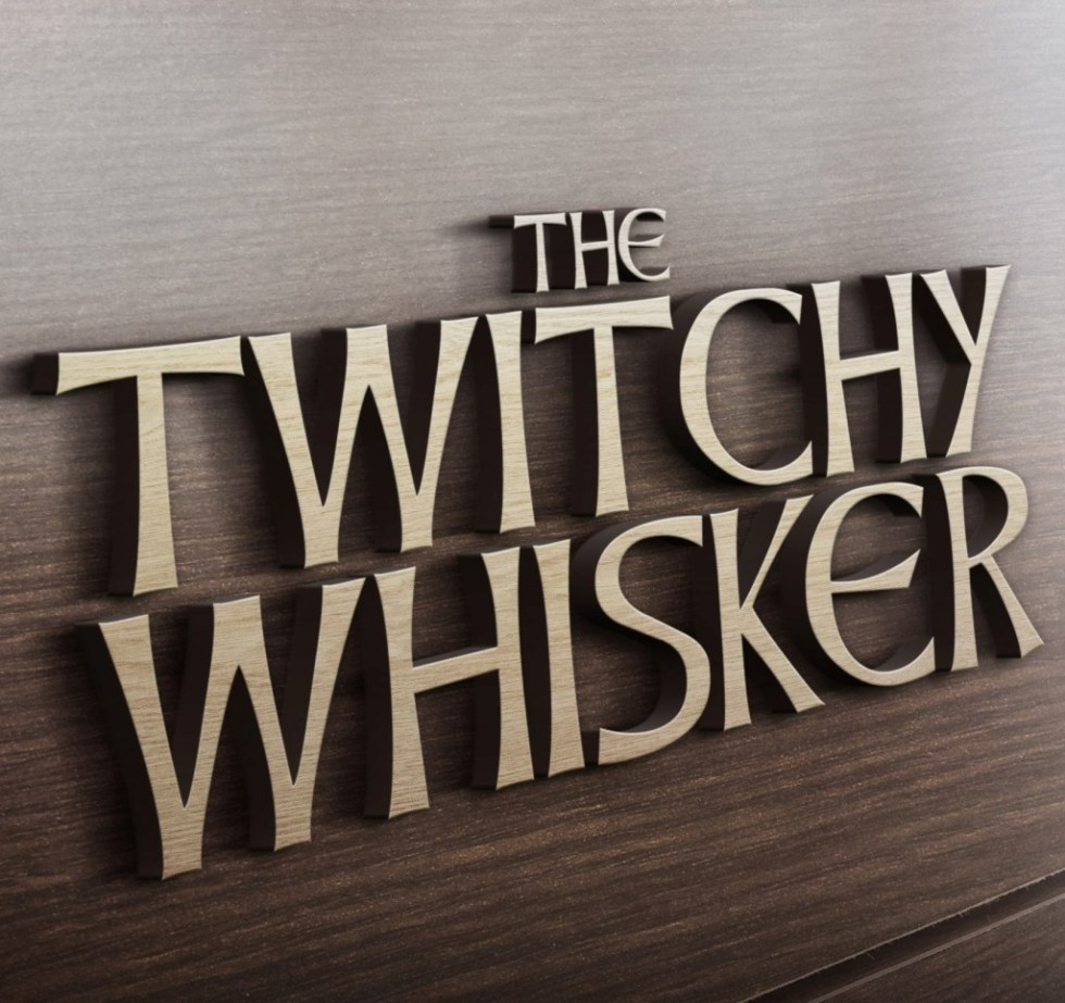 3D Wooden Logo MockUp TwitchyWhisker square