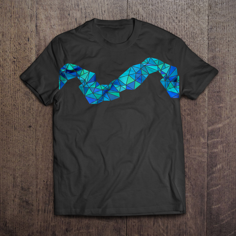 Triangle Wave Tshirt Mockup