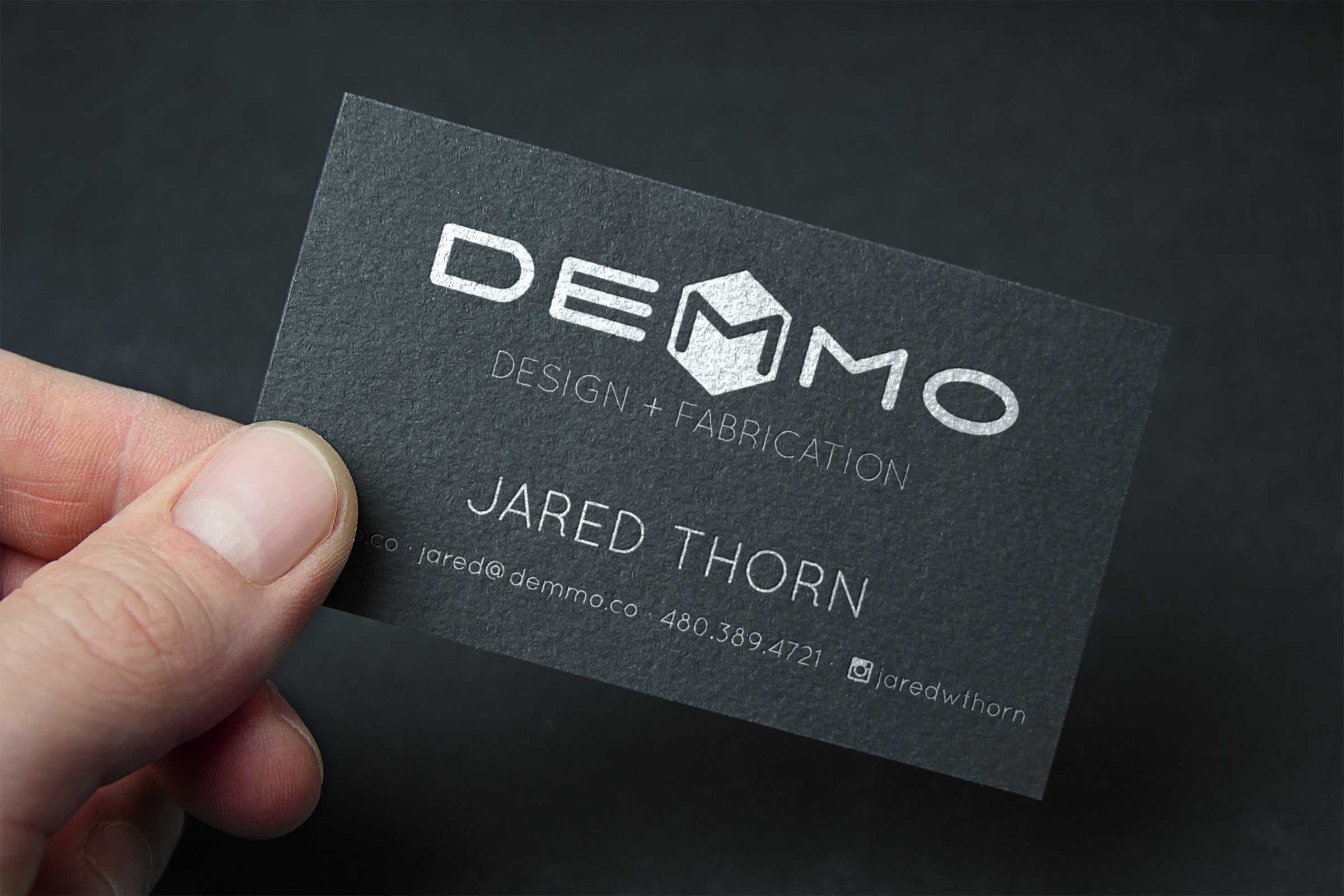 Business cards anchorage image collections free business cards demmo design fabrication emily longbrake demmo business card mockup black magicingreecefo image collections magicingreecefo Choice Image