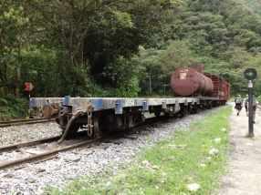 Train Outside Aguas Calientes