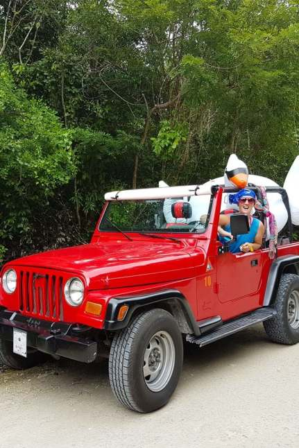red jeep cozumel