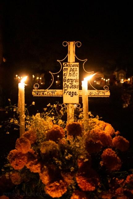 Cemetery for Dia de Muertos