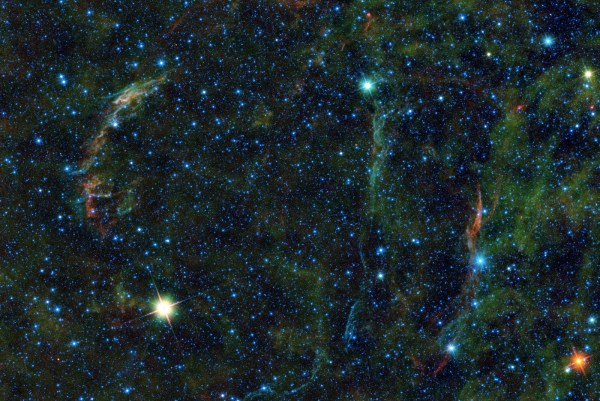 The Veil nebula, a massive star that exploded 5,000 to 8,000 years ago, according to NASA. Photo by NASA/JPL-Caltech/UCLA (public domain)