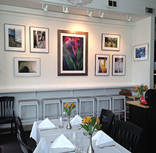 Photos hanging at True Bistro, Somerville, MA