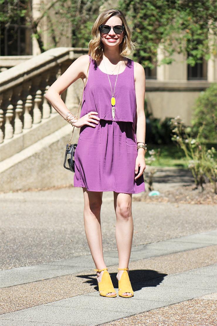 Gameday Ready: Perfect Purple Dress